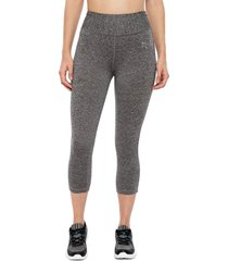 legging everlast mid basic gris - calce ajustado
