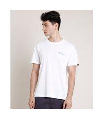 "camiseta masculina lost paradise"" manga curta gola careca off white"""
