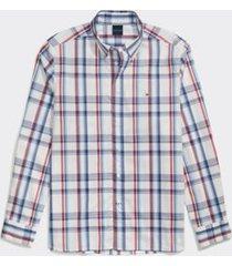 tommy hilfiger men's adaptive custom fit plaid shirt bright white/multi - s