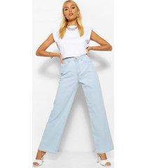 denim basic jeans met wijde pijpen, lichtblauw