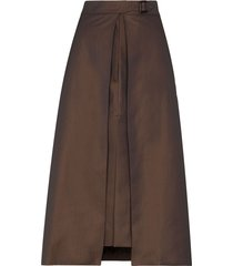 eftychia layered pencil skirt - brown