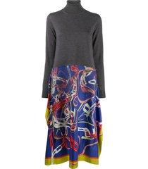 maison margiela scarf-skirt jumper dress - grey