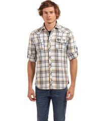 camisa manga larga checkered idaho amarillo ferouch