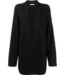 dusan chunky-knit cashmere cardigan - black