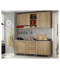 cozinha compacta completa multimóveis com 4 peças sicília 5818 argila/argila