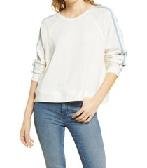 women's splendid clearwater pullover, size large - white
