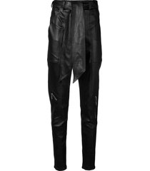 talbot runhof tapered belted trousers - black