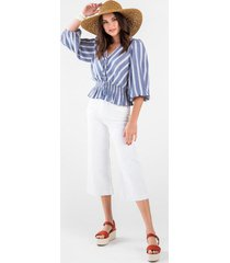 harper heritage high rise cropped white jeans - white