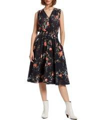 women's michael stars clover smock waist cotton dress