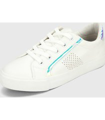 tenis lifestyle blanco-multicolor runner athletic