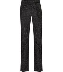 nulabel reflector checked tweed trousers - black