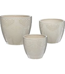 kwietnik 3 szt. doniczki ceramiczne safinia