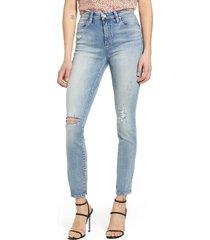 women's blanknyc bond ripped straight leg jeans