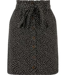 crushed spot paperbag skirt