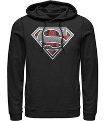 fifth sun men's superman concrete logo fleece pullover hoodie