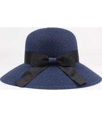 cappello estivo da donna con visiera ampia in paglia