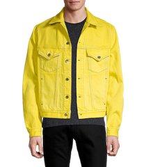 helmut lang men's sodium masc big trucker jacket - yellow - size xs