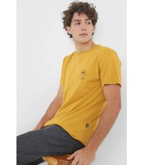 camiseta billabong double tiger amarela