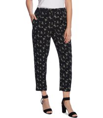 vince camuto ditsy floral slim leg pull on pants