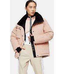 *blush corduroy ski jacket by topshop sno - blush