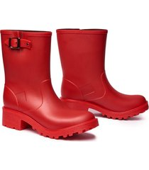 botas impermeables para mujer michelle idecal rojo