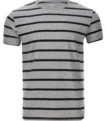 camiseta franjas horizontales color gris, talla xs