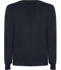 drumohr dark blue merino wool sweater