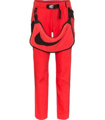 nike x matthew m. williams logo panel belted trousers - red
