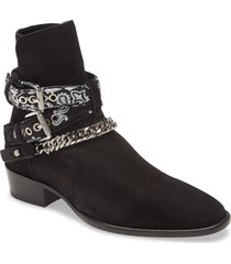 men's amiri bandana strap ankle boot