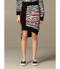 just cavalli skirt just cavalli zebra skirt with logo