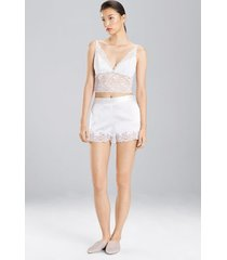 natori sleek silk shorts, women's, size l