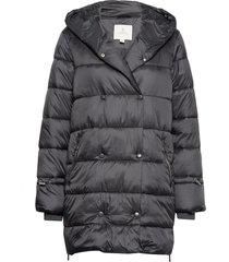 jacket outerwear heavy gevoerde lange jas zwart brandtex