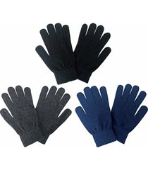 mens thin coloured warm magic stretch knit liner thermal wool gloves for winter