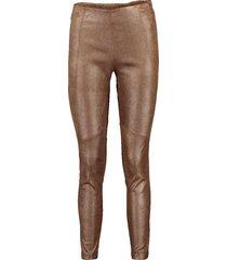 metallic leather legging