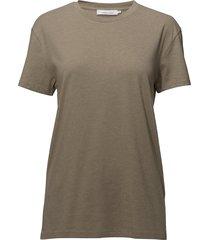 kronos o-n ss 273 t-shirts short-sleeved beige samsøe & samsøe