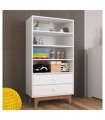 roupeiro infantil montessoriano completa móveis by610 retrô 2 gavetas branco