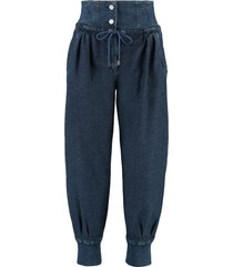 alberta ferretti cotton trousers