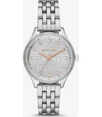 mk orologio lexington bicolore - argento (argento) - michael kors