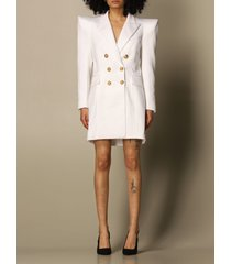 balmain dress double-breasted 6 buttons wide shoulder