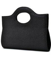 bolsa de mão de festa hendy bag glitter preta