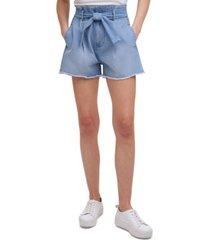 calvin klein jeans high-rise paperbag-waist jean shorts