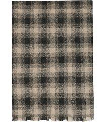 z zegna check wool scarf
