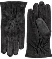 men's hestra 'arthur' suede gloves, size large - black