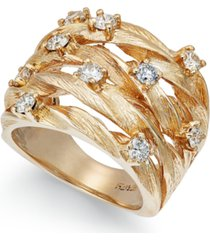 d'oro by effy diamond woven ring (1 ct. t.w.) in 14k white, yellow, or rose gold