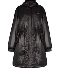 ambush padded fishtail parka coat - black