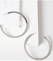 lane bryant women's bold hoop earrings onesz silver tone