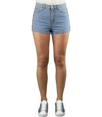 chiara ferragni logomania denim shorts
