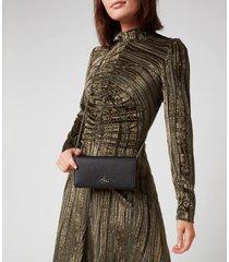 vivienne westwood women's windsor long wallet with long chain - black