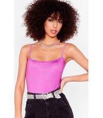 womens just slink about it square neck high-leg bodysuit - violet