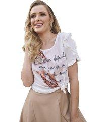 t-shirt fascinius maitê off white
